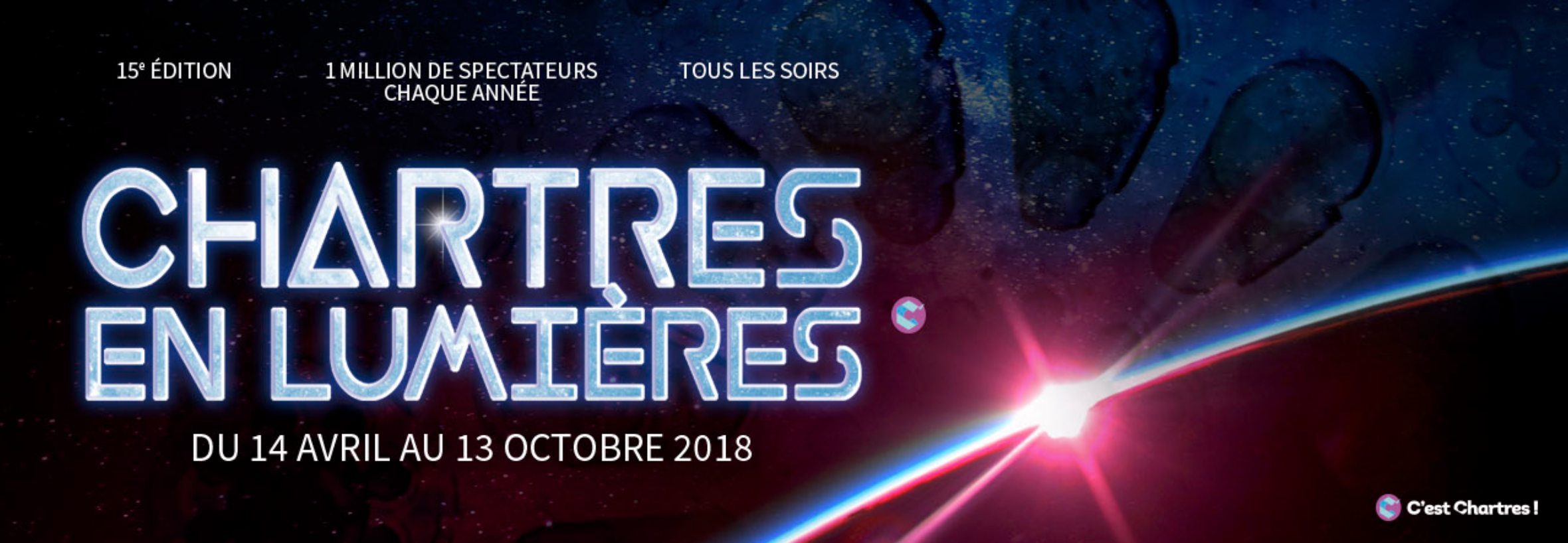 Bandeau Chartres en lumières 2018