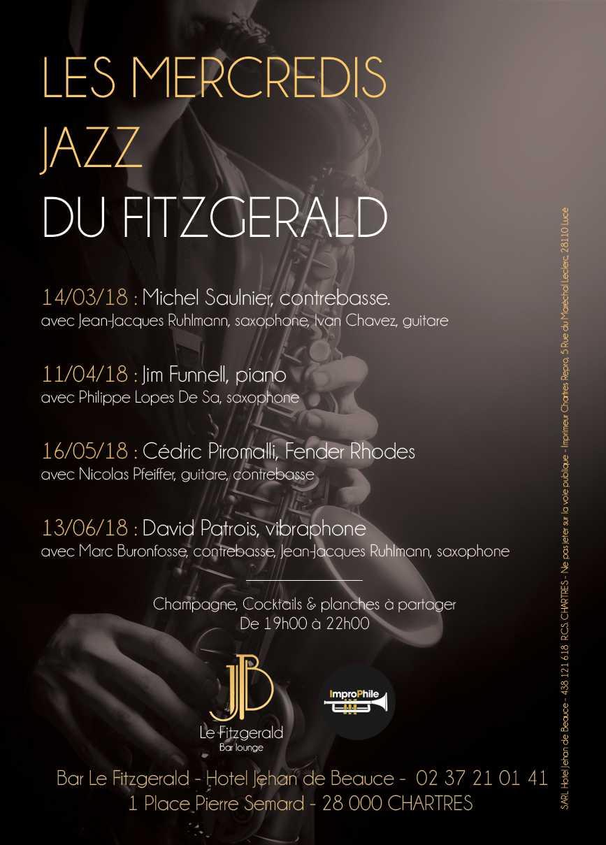 Affiche les mercredis Jazz du Fitzgerald